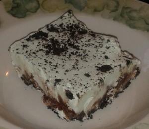 ice cream, dessert, oreos, grasshopper dessert