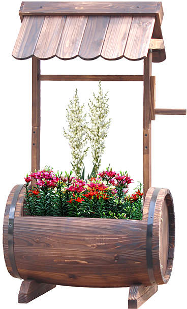 Barrel Well Planter