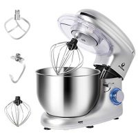 POSAME Stand Mixer Professional Kitchen Baking Mixer 660W 6-Speeds 6-Quart Stainless Steel Bowl Tilt-Head Electric Mixers Dough Mixer Cake Kneading Machine with Dough Hook, Whisk, Beater, Pouring Shield