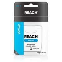 Reach Waxed Dental Floss for Plaque and Food Removal, Unflavored, 55 Yards (Pack of 6)