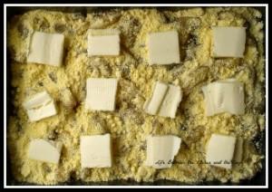 Apple Dump Cake butter layer 350