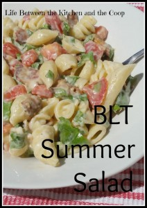 bacon, lettuce, tomato, pasta