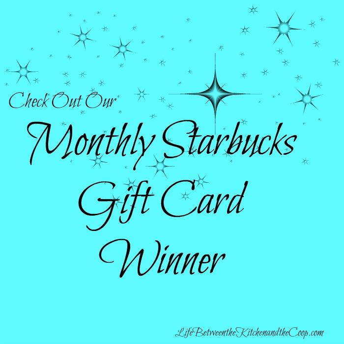 Starbucks Gift Card Winner