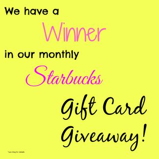 Starbucks, giveaway, gift card