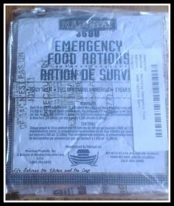 MRE, emergency preparedness, bug out bag, rations, survival