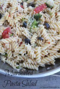 marinated pasta salad