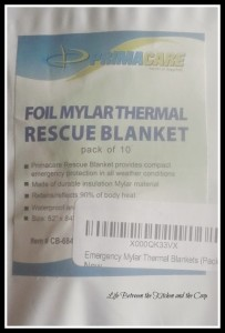 Mylar Blankets, Prepping, Emergency Preparedness