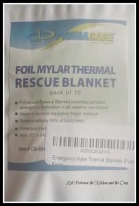 Mylar Blankets, Prepping, Emergency Preparedness