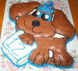 Puppy Dog Birthday Cake WM