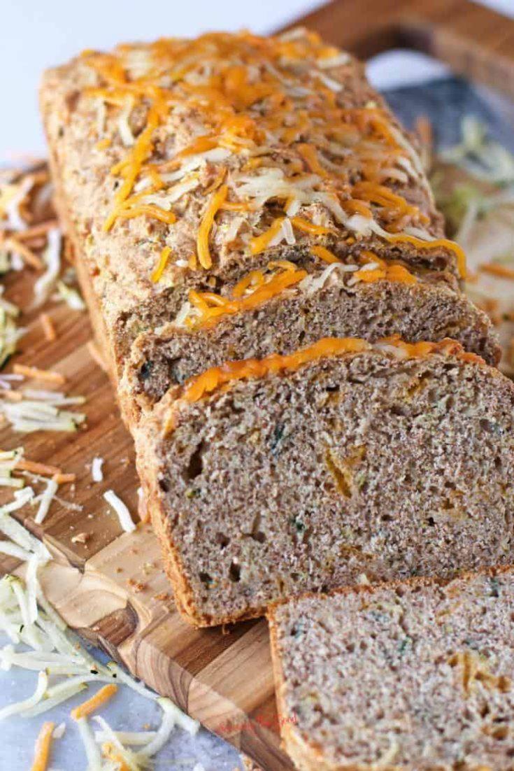 Savory Zucchini Bread | Whole Wheat Zucchini Bread