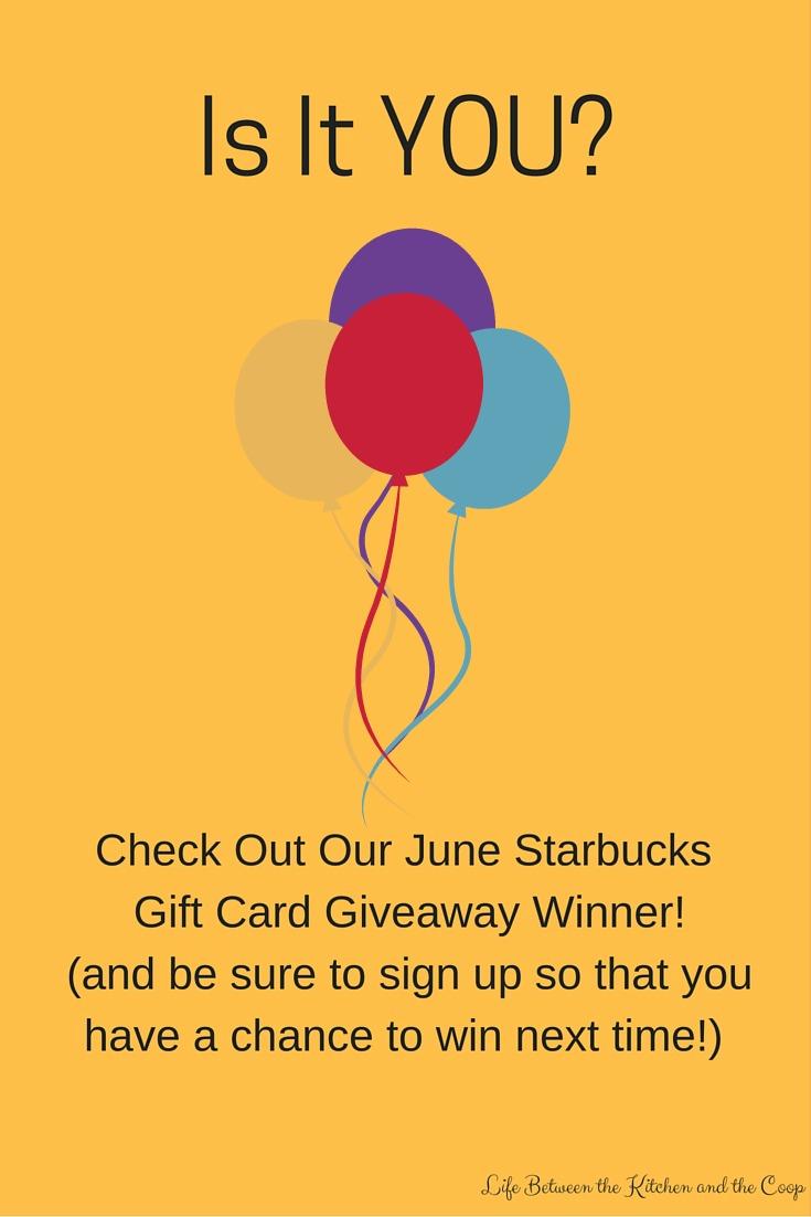 starbucks giveaway june 2017