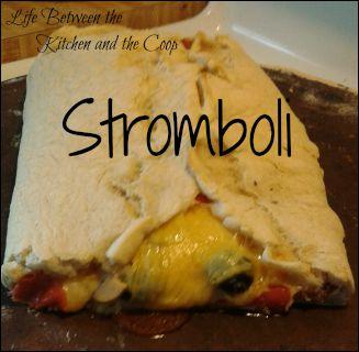 stromboli, italian food, pepperoni