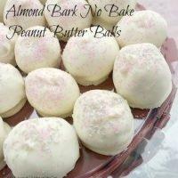 Almond Bark No Bake Peanut Butter Balls