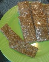 chewy peanut butter oat bars