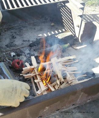 campfire corn cob