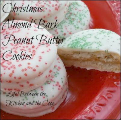 christmas almond bark peanut butter cookies