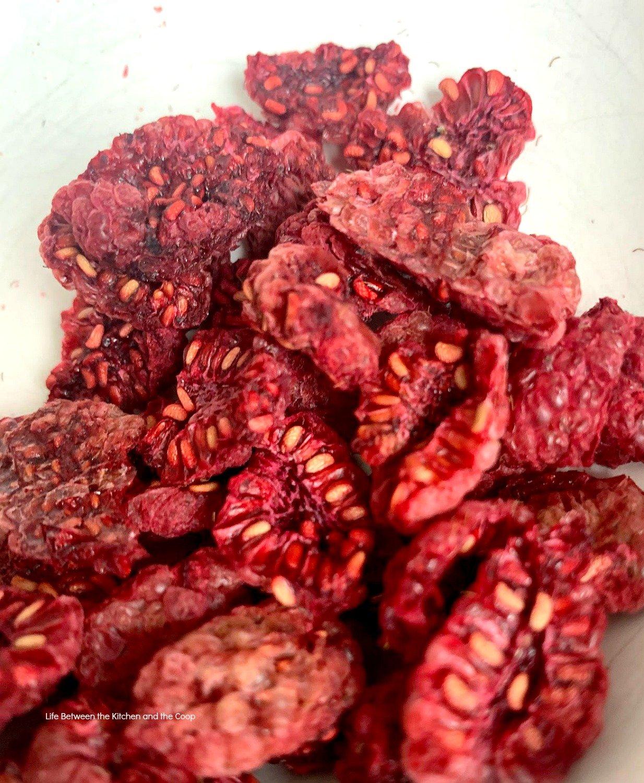 dehydrated raspberries for food storage