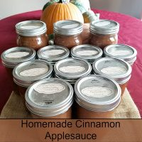 Canning Homemade Cinnamon Applesauce