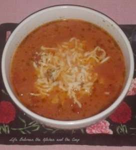 lasagna soup in bowl wm