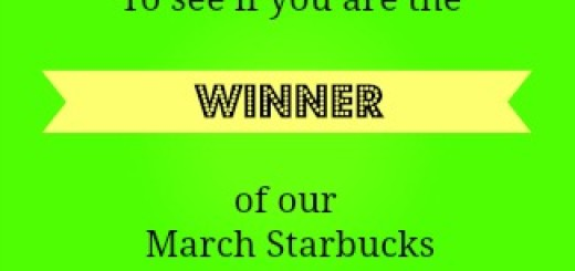 Starbucks Gift Card winner