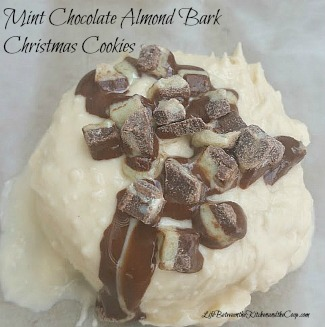 mint chocolate almond bark Christmas cookies