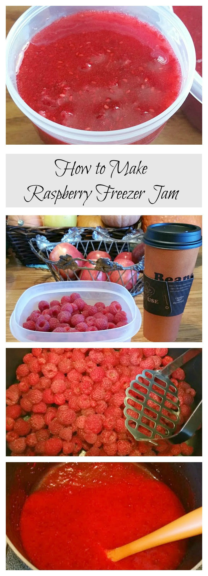 make raspberry freezer jam