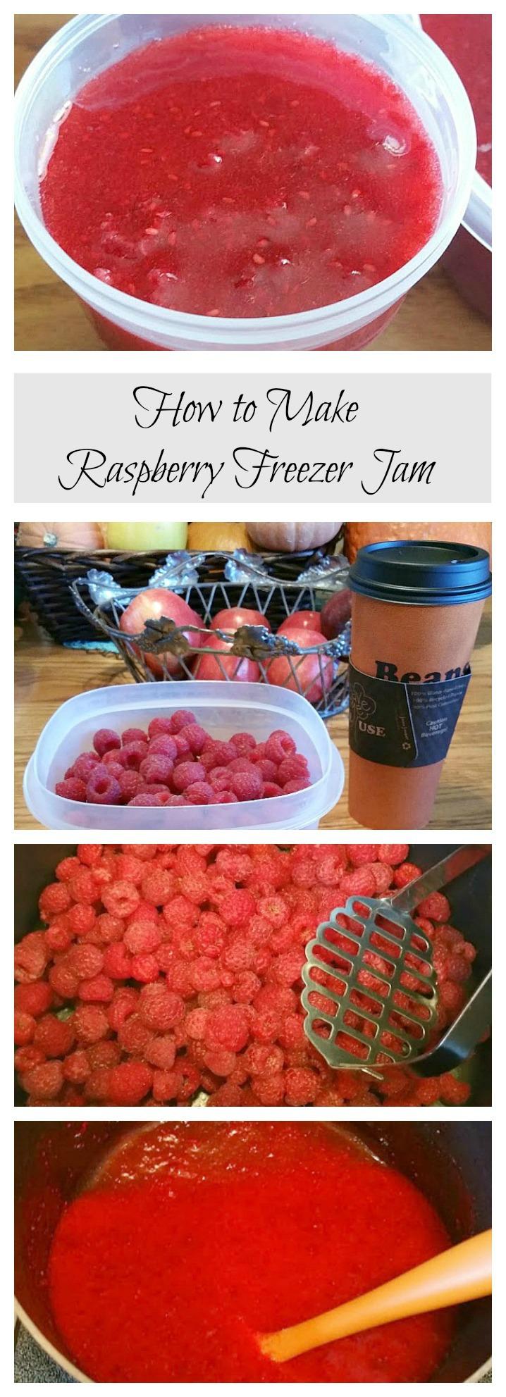 make raspberry freezer jam