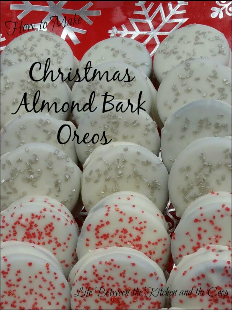 Christmas Almond Bark Oreos