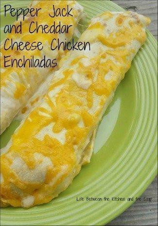 pepper jack cheddar cheese chicken enchiladas