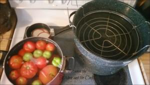 canning, making salsa