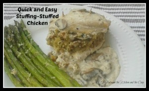 quick and easy stuffing stuffed chicken with mushroom sauce