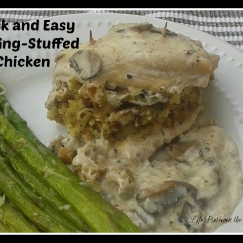 Quick and Easy Stuffing-Stuffed Chicken with Mushroom Sauce