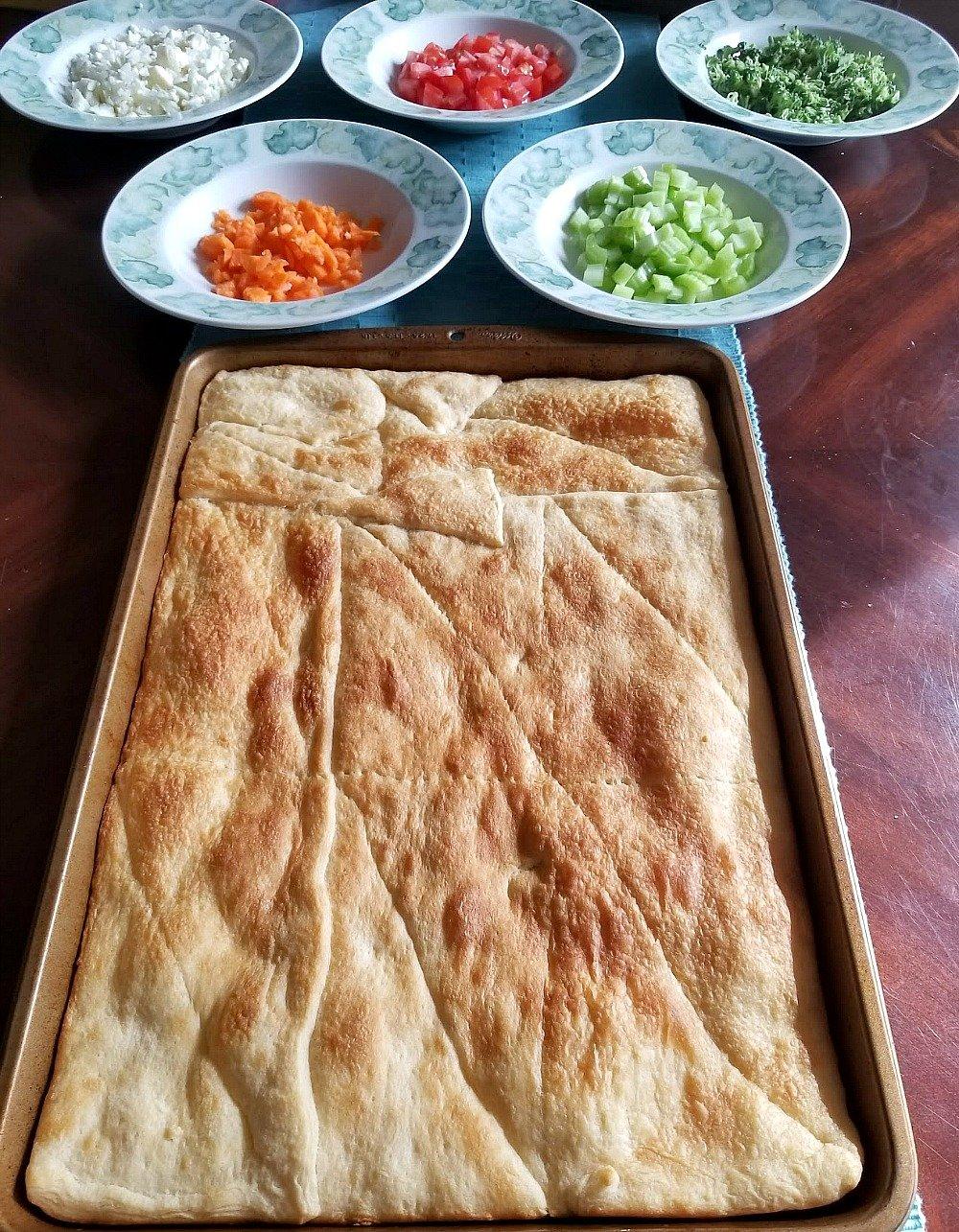 veggie squares appetizer