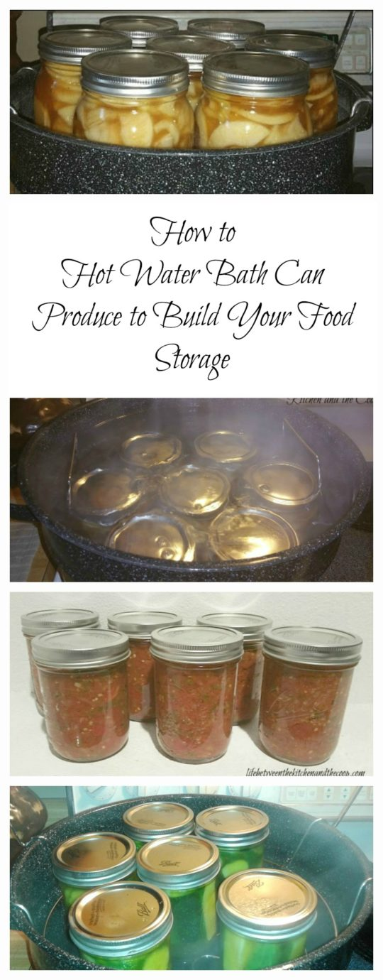 hot water bath canning produce